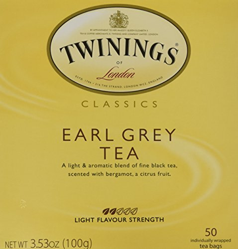 Twinings Earl Grey Tea, Tea Bags, 50-Count Boxes (50 Tea Bags)