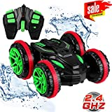 Blexy RC Stunt Car Remote Control Car Boat 4WD 6CH 2.4Ghz Off Road Electric Racing Vehicle 360° Spins & Flips Land Water Multifunction Amphibious Tank