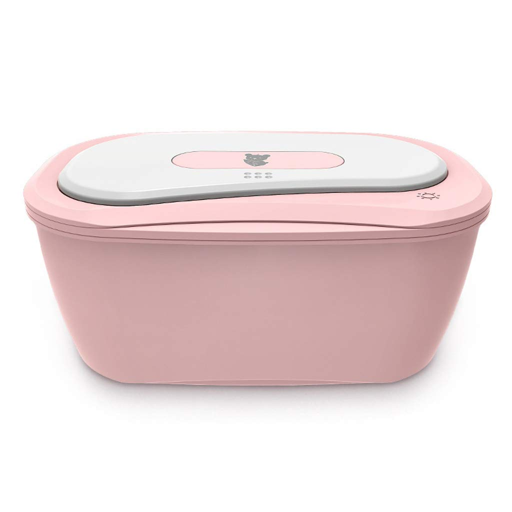Baby Wipes Warmer,Mute Ultimate Wipes Warmer with an Integrated Nightlight Wipe Access Constant Temperature Heating-Pink by SLOUD