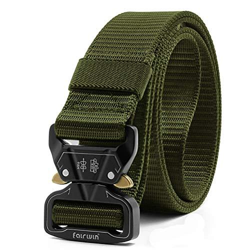 Fairwin Tactical Belt, 1.5 Inch Wide Heavy Duty Military Style Tactical Belts for Men (Green, Waist 36