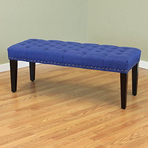 Monsoon Pacific Sopri Upholstered Bench, Deep Blue (Pacific Blue Fabric)