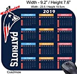 from Cus2mize New England Patriots Mouse Pad New England Patriots Mousepad, Sold by Cus2mize Only. New England Patriots Calendar 2019 0719896137744