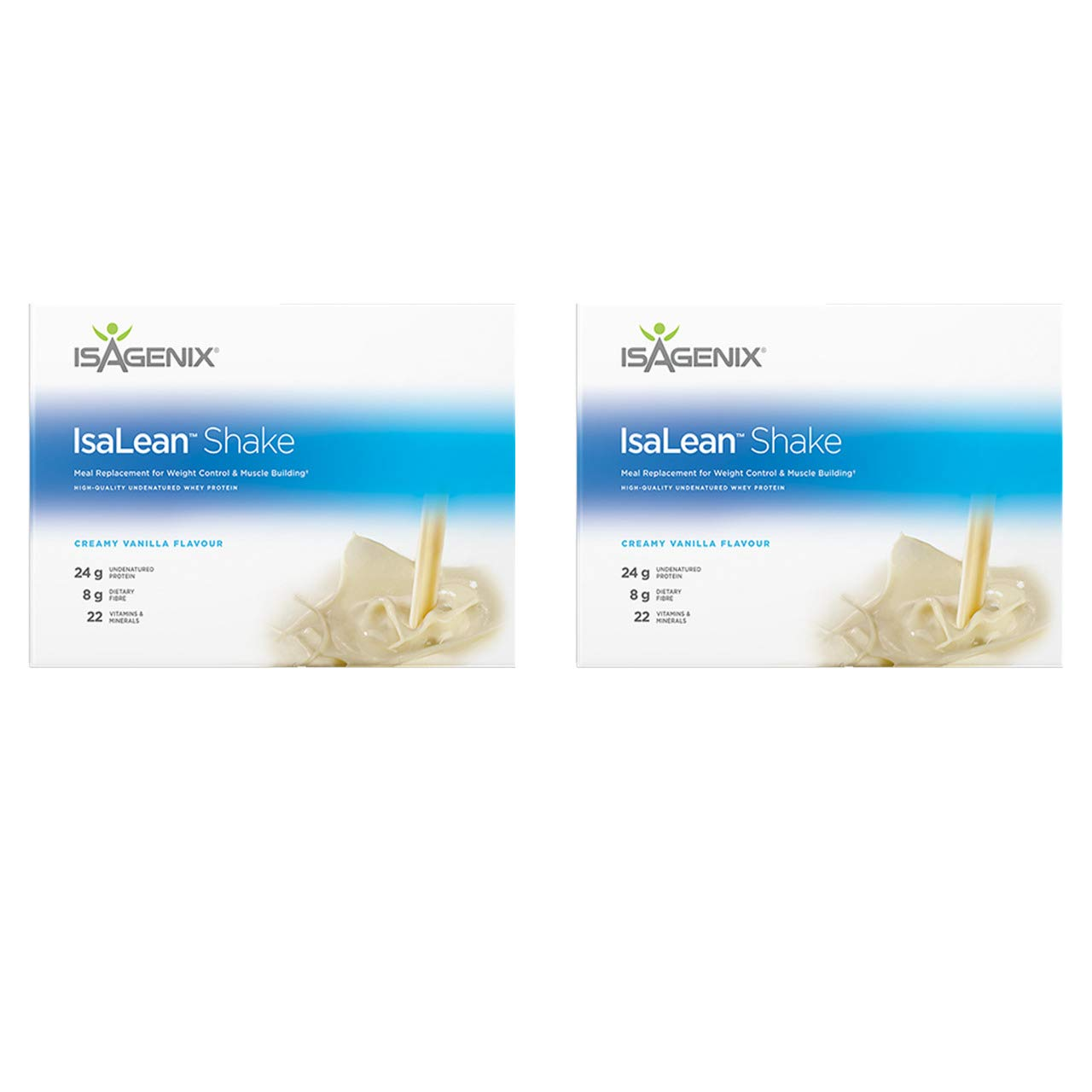 Isagenix Isalean Shake 2 Pack of Creamy French Vanilla - 28 Meal Packets X 2.1 oz, 29.6 oz (840g) (2 Pack)