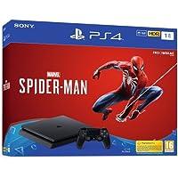 Sony PS4 1TB + Marvel's Spider-Man Negro 1000 GB Wifi - Videoconsolas (PlayStation 4, Negro, 8000 MB, GDDR5, AMD Jaguar, AMD Radeon)