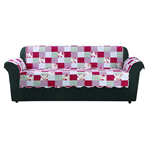 - Sure Fit Heirloom Quilted Pet - Sofa Slipcover - Cottage Patchwork (SF46472)
