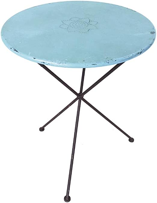 milanari \'Table Métal Ronde Vintage Table de Jardin Ronde ...