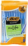 BIC Round Stic Xtra Life Ball Pen, (10 Count, Blue)