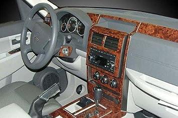Amazon Com Jeep Liberty Interior Burl Wood Dash Trim Kit Set 2008 2009 2010 2011 2012 Automotive