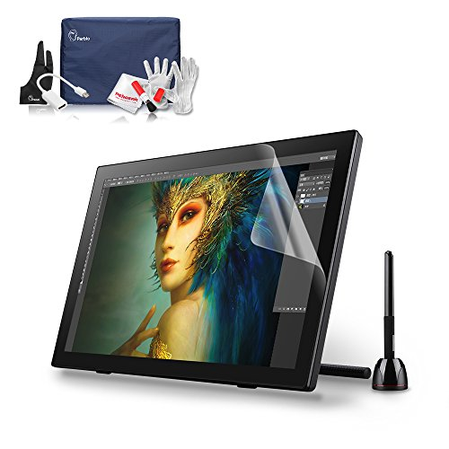Parblo Coast22 21.5 Inch Digital Graphics Tablet Pen Display Drawing Monitor with Cordless Battery-free Pen +Protector Cover+ Screen Protector +Cleaning - Whiteboard System Interactive