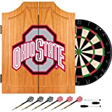 Trademark Ohio State University Dart Cabinet Includes Darts And Board (lrg7000-osu-blk) -