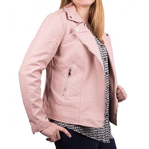Rose Simili en Blouson Femme Veste Cuir Grande Perfecto Biker Taille Primtex wxq7OCHxv