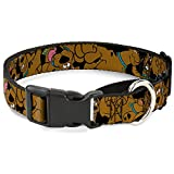 Buckle Down ''Scooby Doo Stacked Martingale Dog Collar, Black/Green, 1.5'' Wide-Fits 18-32'' Neck-Large