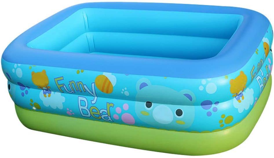 FBGood - Bañera hinchable rectangular para piscinas de espesor, portátil, plegable, para bañeras duraderas, piscina hinchable para adultos