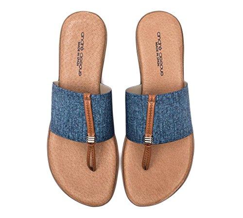 Nice Sandal Denim Flat André Assous Women's qSwY8IE7