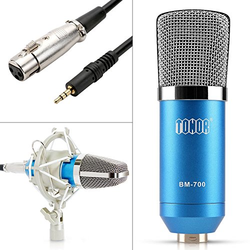 TONOR Pro Condenser PC Microphone Kit with 3.5mm XLR Mic ...