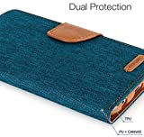BRK Mercury Nosson Fancy Canvas Diary Wallet Flip Cover Case for Samsung Galaxy A9 Pro - Green