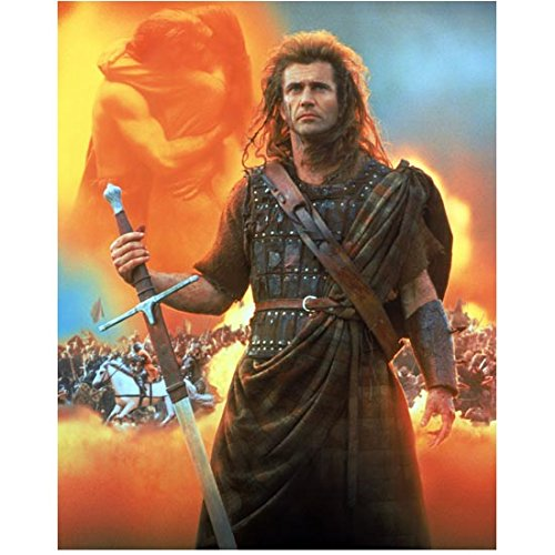 Mel Gibson as William Wallace in Braveheart 8 x 10 Inch (William Wallace Weapons)