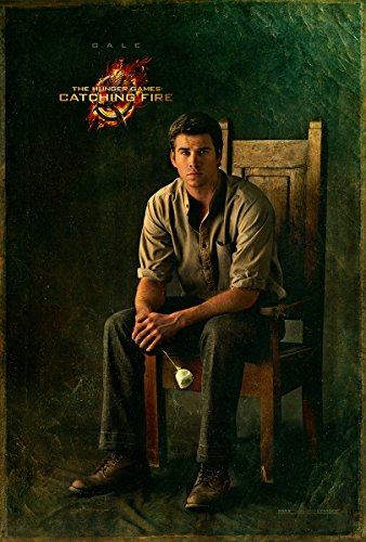 The Hunger Games 2 : Catching Fire (2013) - Gale Chair - 13 in x 19 in Movie Poster Flyer BORDERLESS + Free 1 Tile Magnet