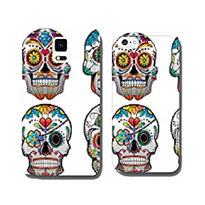 Set of 4 Vector Sugar Skulls cell phone cover case iPhone5