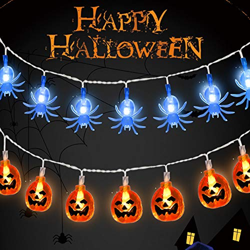 15 Led Halloween Pumpkin String Lights in US - 4