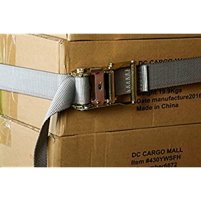 4 E Track Ratchet Tie-Down Cargo Straps, 2