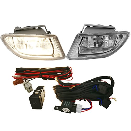 AJP Distributors For 1999 2000 2001 2002 2003 2004 99 00 01 02 03 04 Honda Odyssey RL1 Front Driving Fog Lights Lamps Assembly Pair Left Right Set (Clear) ()