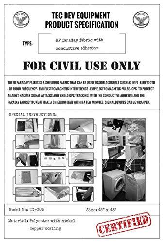 RF Faraday Fabric, EMF Shield, Blocker, Faraday Cage, RFID