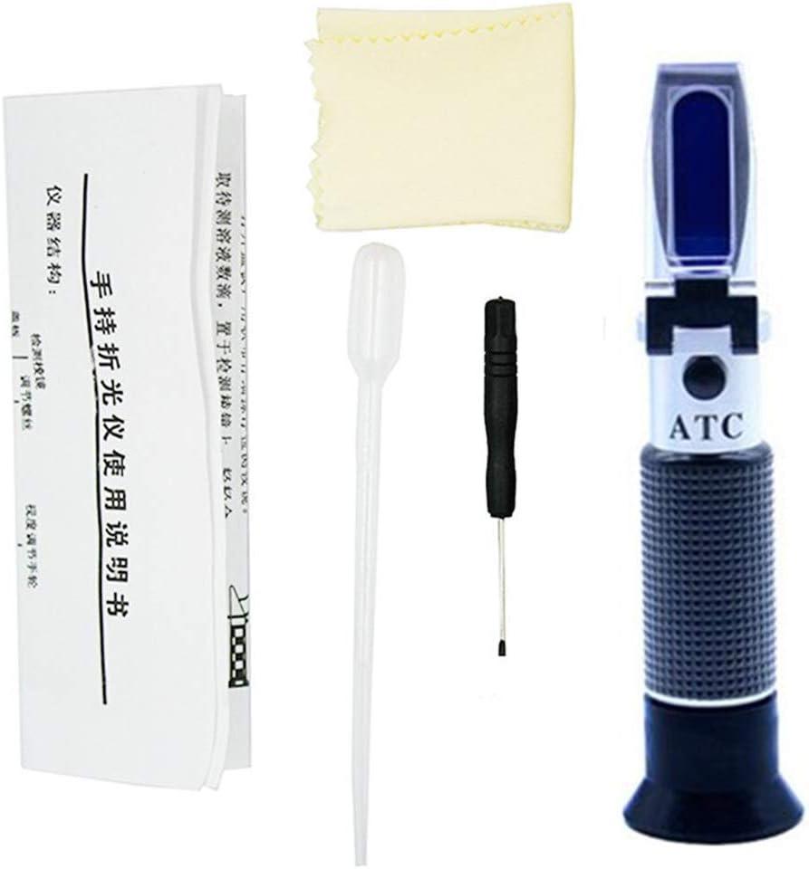 Brix Refraktometer ATC Zucker Meter 0-32/% tragbar Handrefraktometer zur Bestimmung des Zuckergehalts von Honig Pflanzen/öl Sirup Melasse Fauay