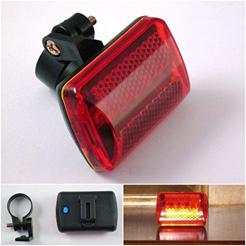 Mechanical Flasher (Superb 7 Modes Popular 5x Red LED Bike Light Bicycle Flashing Tail Patterns Cycling Flasher with Belt Clip)