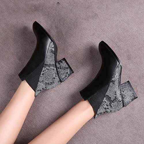 Algodón Botas Plus Puntiagudos Zapatos De color Black 35 Marea Nuevas Tacón Mujer Negro Invierno Tamaño Cuero Velvet 2018 Negros Feaona Con Alto CBvXcwqw