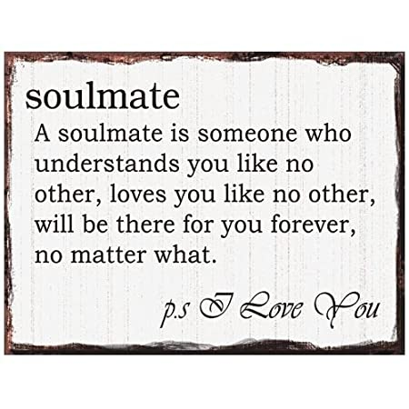 Soulmate Romantic Vintage Quote Metal Wall Plaque Sign Amazoncouk
