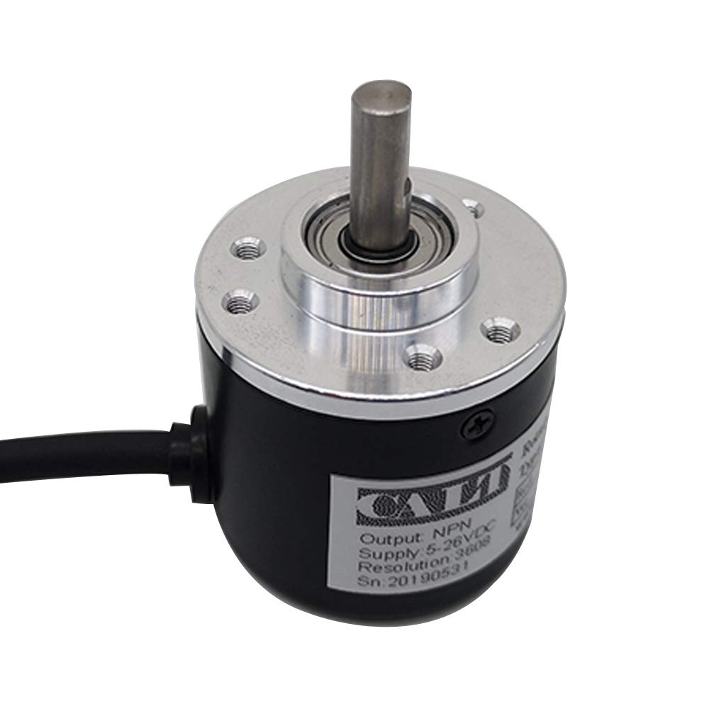 8-24NPN, 1000 Incremental Optical Rotary Encoder 100 200 360 500 100 PPR A B 90/° Phase NPN PNP Open Collector Out