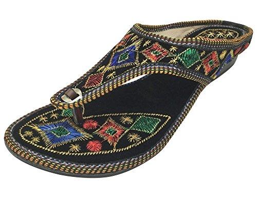 Step n Style Schritt N Style Frauen Flache Sandalen Hausschuhe Khussa Schuhe Panjabi jutti Brautschmuck Slipon