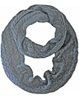 Luxury Divas Thick Cable Knit Winter Infinity Scarf