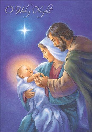 mary and joseph craddling jesus designer greetings box of 18 religious christmas cards - Jesus Christmas Cards