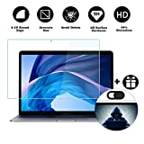 MUBUY Design for MacBook Air 13 Inch 2018 (Model A1932 with Touch ID) Tempered Glass Screen Protector, 9H Super Hardness Prevent Being Scratched by Keys, Watch, Kids, Pets, Anti Finger Print