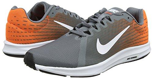 Froid Downshifter 003 hyper Blanc Gris Hommes Chaussures Cramoisi 8 gris Fonc Course Nike gris De q685n