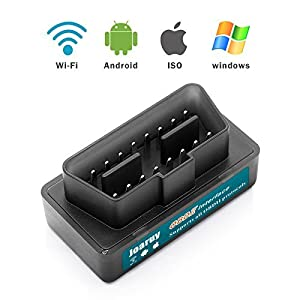 Joaruy Mini OBD2 Scanner, [UPGRADED 2018] OBDII Car Diagnostic Scanner for iOS and Android Devices Check Engine Light Code Reader Scanner for Car