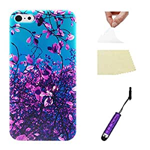 For Apple iPhone 5C Case, Moonimini?? For Apple iPhone 5C Ultra-thin Soft TPU Phone Back Case Cover Protective Shell (Leaves)