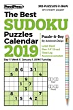 The Best Sudoku Puzzles Calendar 2019 (in B&W on cream paper): Puzzle-A-Day
