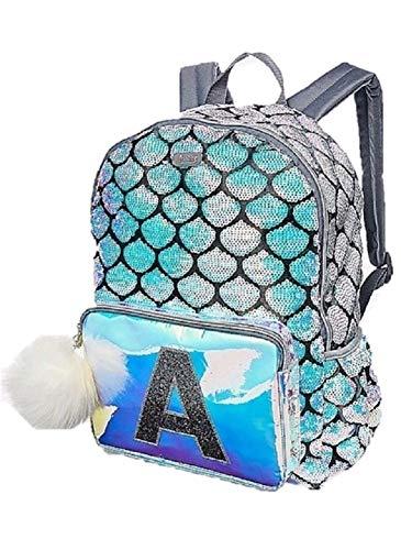 Justice Mermaid School Backpack Letter Initial (K)]()
