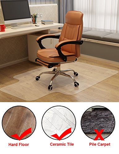 Mysuntown Office Chair Mat For Hardwood Floor, Anti-Slip