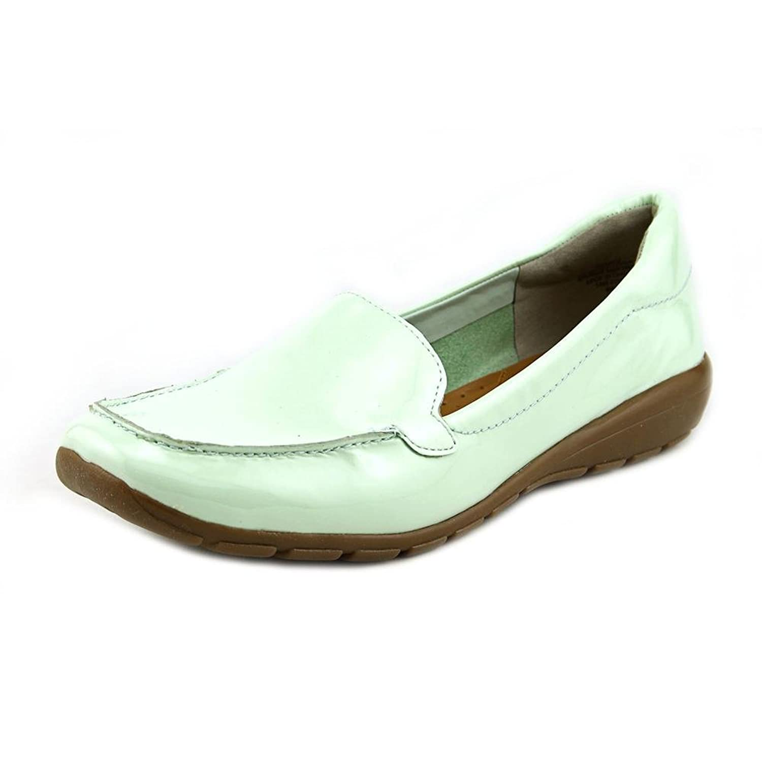 Easy Spirit ABIDE Womens Size 8 Blue Moc Patent Leather Loafers Shoes