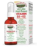Organic Vitamin D3+K2 (MK-7) Liquid Spray by MaryRuth's Non-GMO Vegan Gluten Free Paleo, Ketogenic, Bariatric Friendly and Celiac Friendly. for Men, Women & Children 1oz Glass Bottle