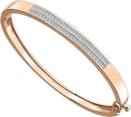 18Kt Yellow Gold Finish Diamond Bangle Bracelet 5.5 Carats Very Elegant