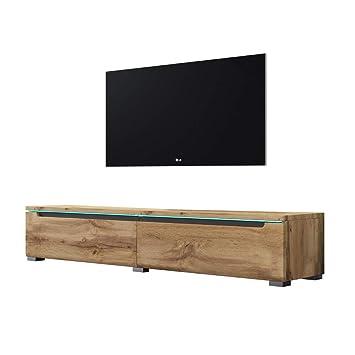 Swift Fernsehschranktv Lowboard In Holzoptik Wotan Eiche Matt Mit Led Hängend Oder Stehend 140 Cm