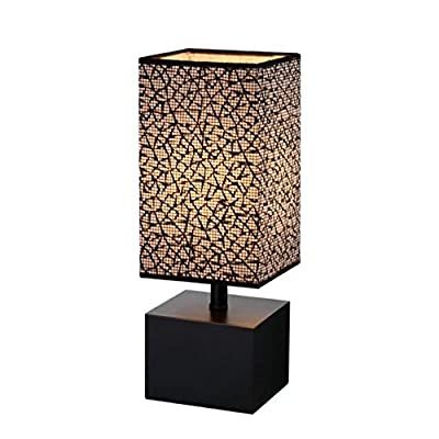 Bedside Table lamp, HHome Plus Minimalist Wooden Desk Lamp For Bedroom, Living Room, Kids Room, Study Room, Office
