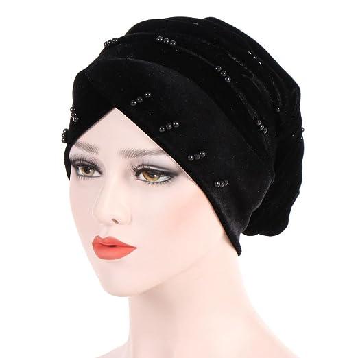 116ed354940 Hunputa Muslim Headscarf Women Soft Comfortable Inner Hijab Caps Islamic  Underscarf Hats Hot (Black)