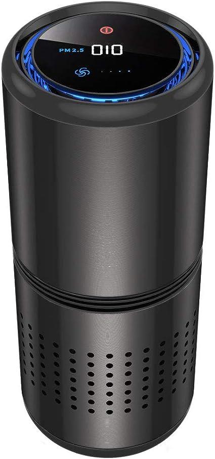 MILI purificador de aire de coche HEPA filtro Ionzier Mini portátil purificador de aire, ambientador puerto USB 5 V encendedor de cigarrillos 12 V generador de iones negativos purificador regalo para: Amazon.es: