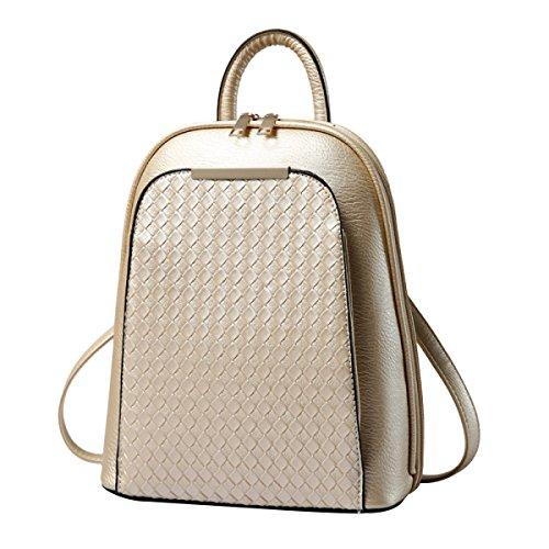 Simple Casual bolso De Pu Mochila Hombro Dorado Mujer qCR4TIwnn
